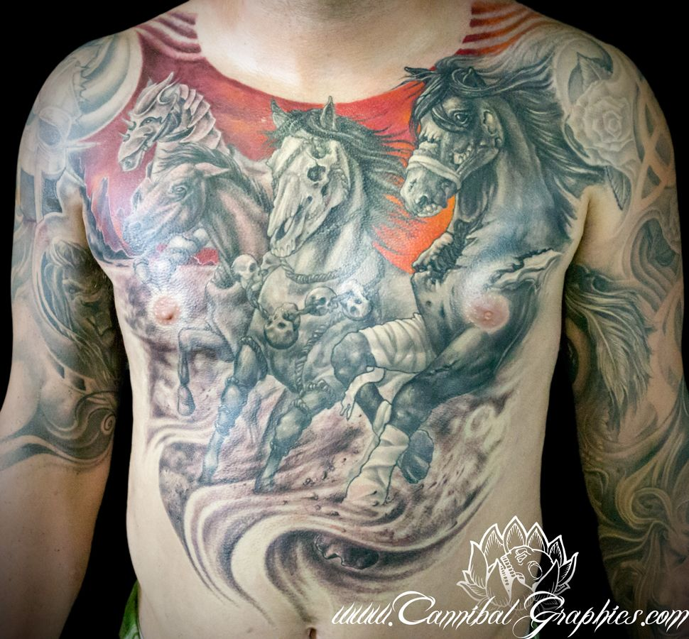 Kyle miller from cannibal graphics custom tattoos in
