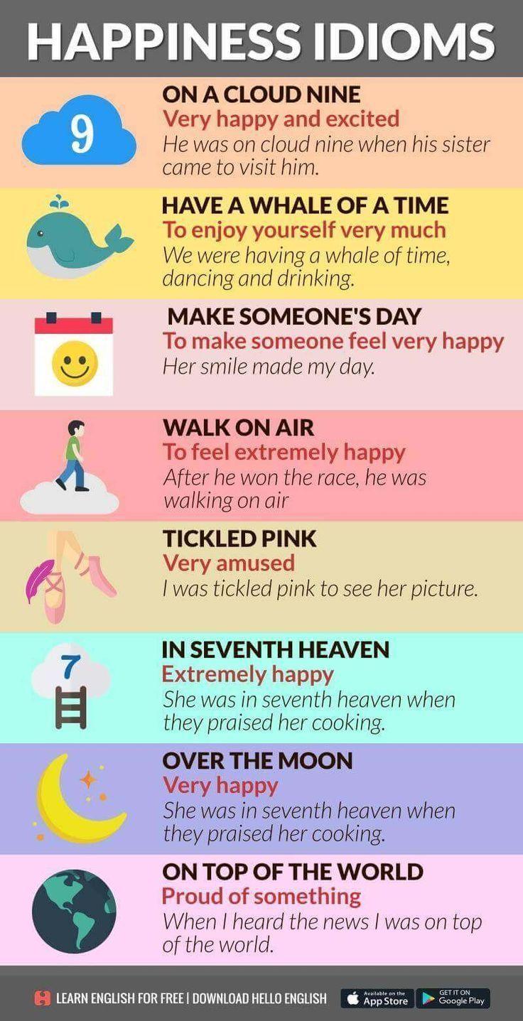 Happy Idioms #LanguageCoach, #BSRidiomas, #Idiomas, # ...