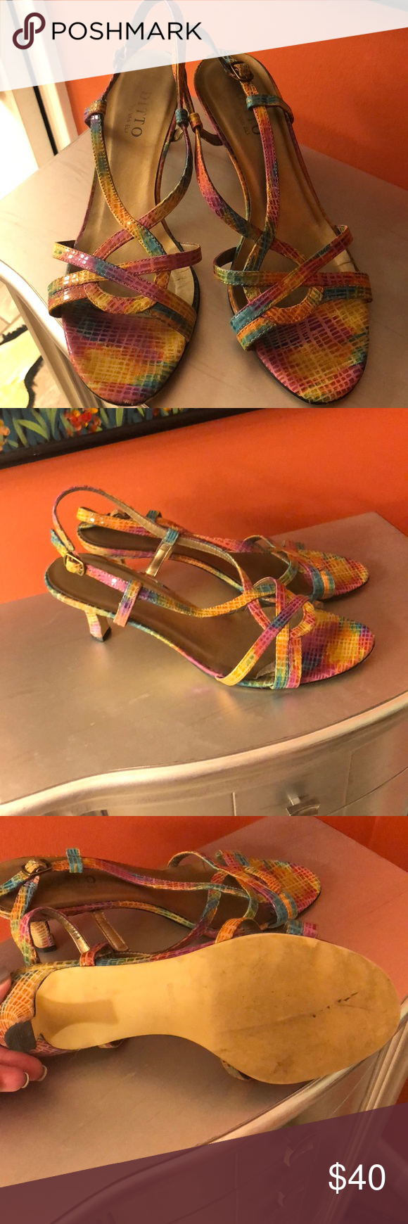 bbea2efb680 ditto by van Eli shoes. Size 10w So much fun. Funky colors!!! Lightly worn. Vaneli  Shoes Heels