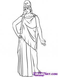 How To Draw Athena By Dawn Drawings Athena Online Drawing