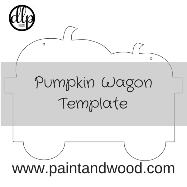 Fall Pumpkin Wagon Door Hanger Printable Template Door