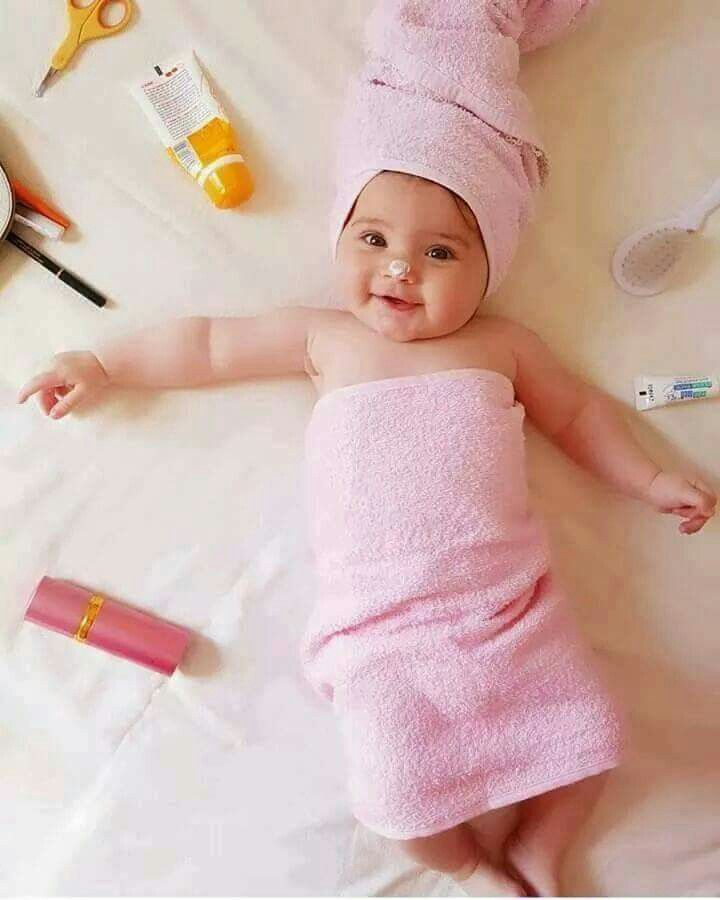 4755f8376ae4 Never too young to appreciate pampering. Cute Baby Girl Pictures