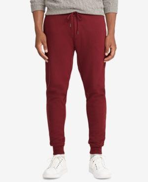 0e26d7e2d Polo Ralph Lauren Men s Double-Knit Jogger Pants - Classic Wine L ...