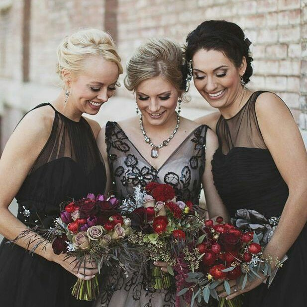 We are so in love with this black #weddingdress. Want to step away from a #whitewedding? Here is proof that you can still look gorgeous and like the blushing bride whatever colour you decide to wear  #halloween #halloweenwedding #weddingdecor #weddingshowcase #weddinginspiration #weddingplanning  Image courtesy of #pinterest by weddingshowcase