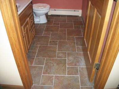 Love this tile from lowes tile ideas pinterest grout slate canyon slate w white grout ppazfo