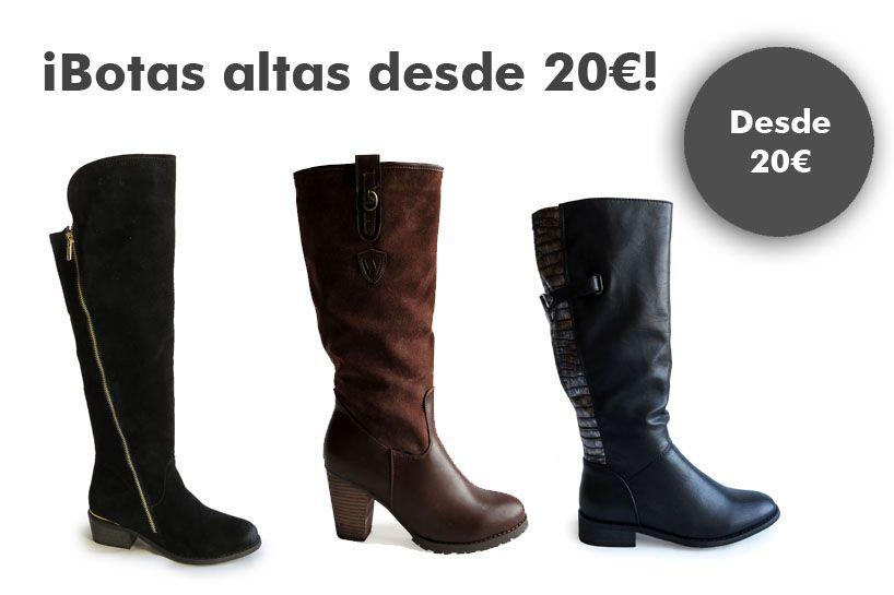 d61d11a419004 Rebajas · Correr · Calzado · ¡ Botas altas desde 20€! Corre que vuelan!  www.calzadospayma.
