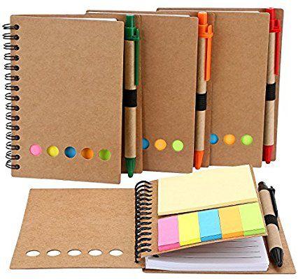 Gifted Amazon Com Mtlee 4 Pack Spiral Notebook Kraft Paper