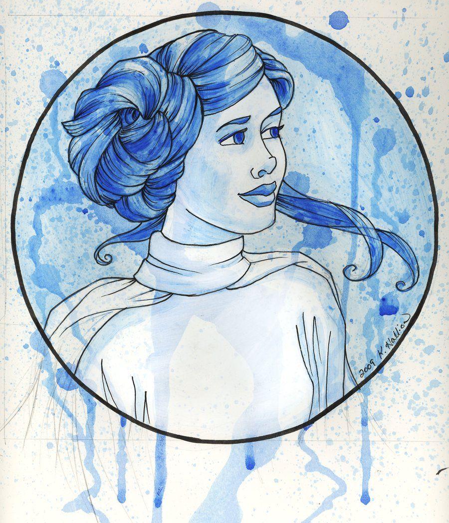 The Princess: Leia Artwork by Karen Hallion