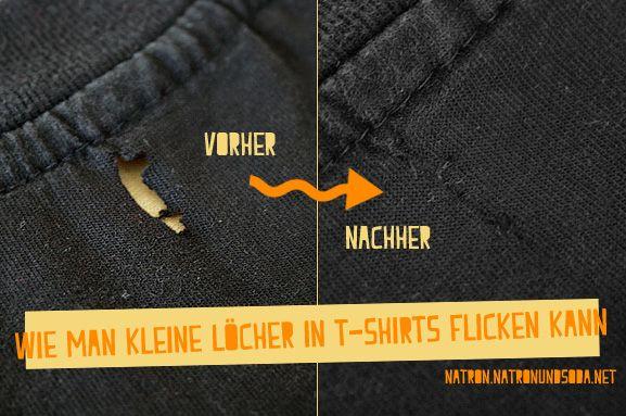Wie man kleine Löcher in T-Shirts flicken kann | Flicken