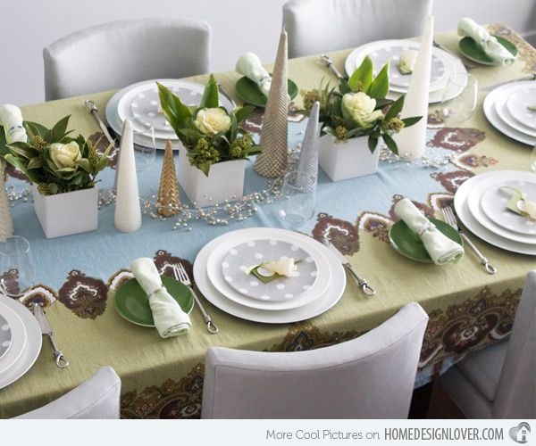 20 Christmas Table Setting Design Ideas Holiday tables Table