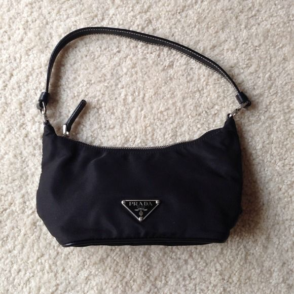 810449d65173b5 Prada Nylon Evening Bag Authentic Prada BR1267 Hobo Handbag in Black Vela  Nylon. Authenticity card included. Prada Bags