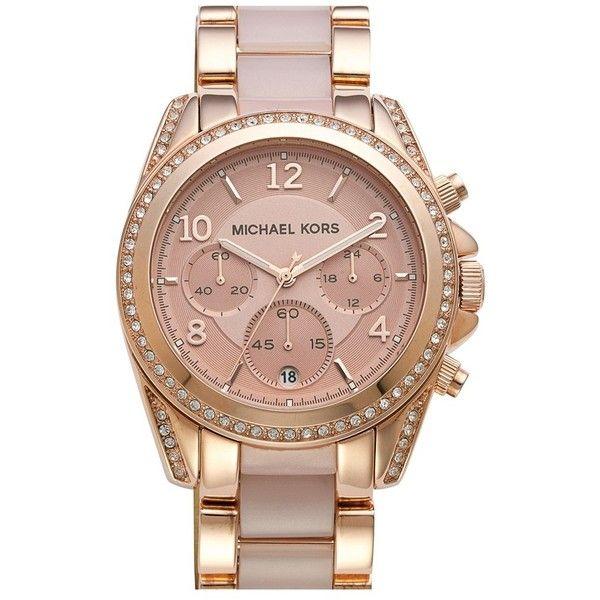 "Pinky Pleasures ~ Michael Kors "" Blair"" Crystal Bezel Two-Tone Bracelet  Watch, Rose Pink 5d529feaba"