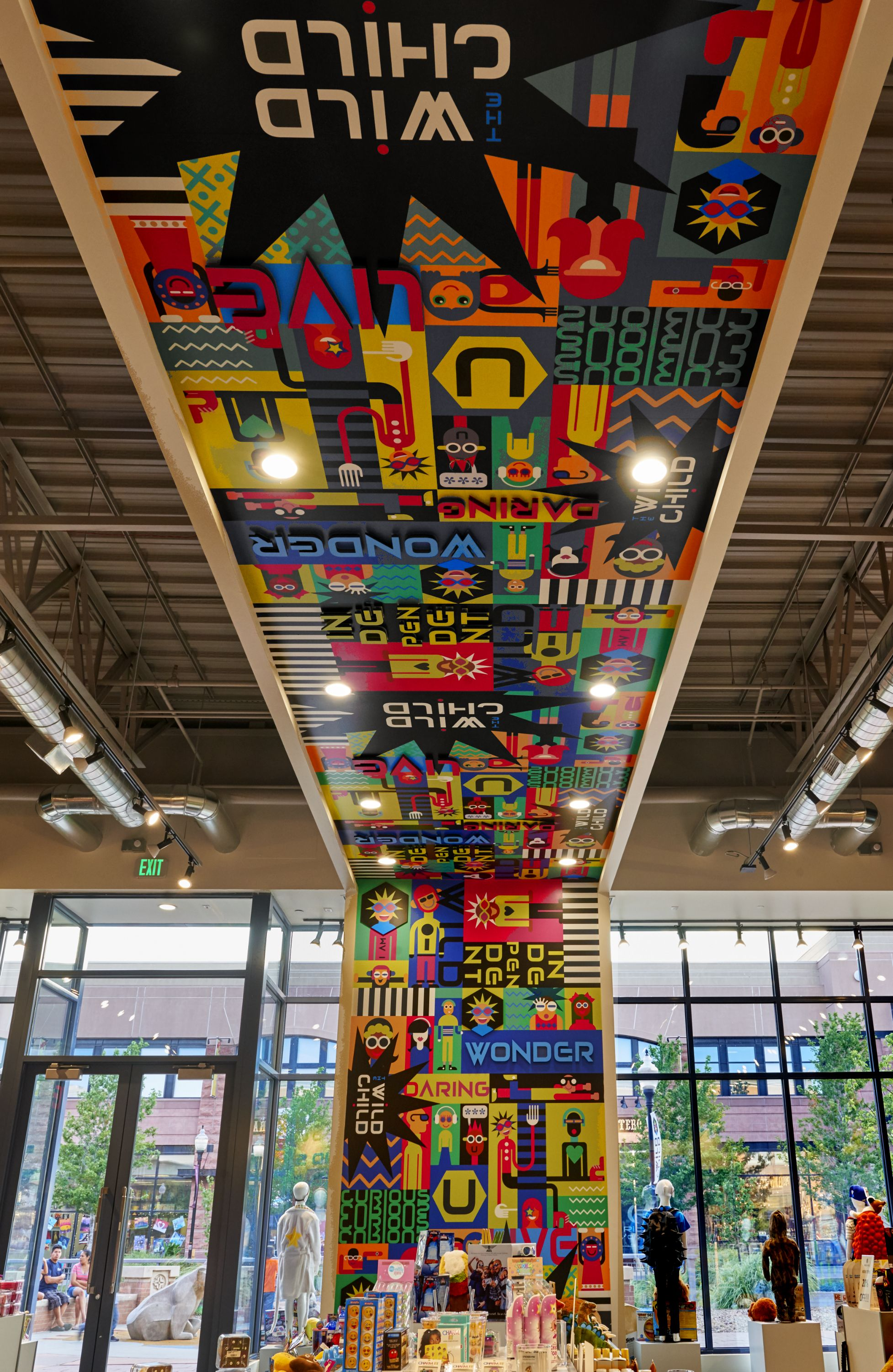 Ceiling and #wallgraphics in kids toy store in #Denver. # ...