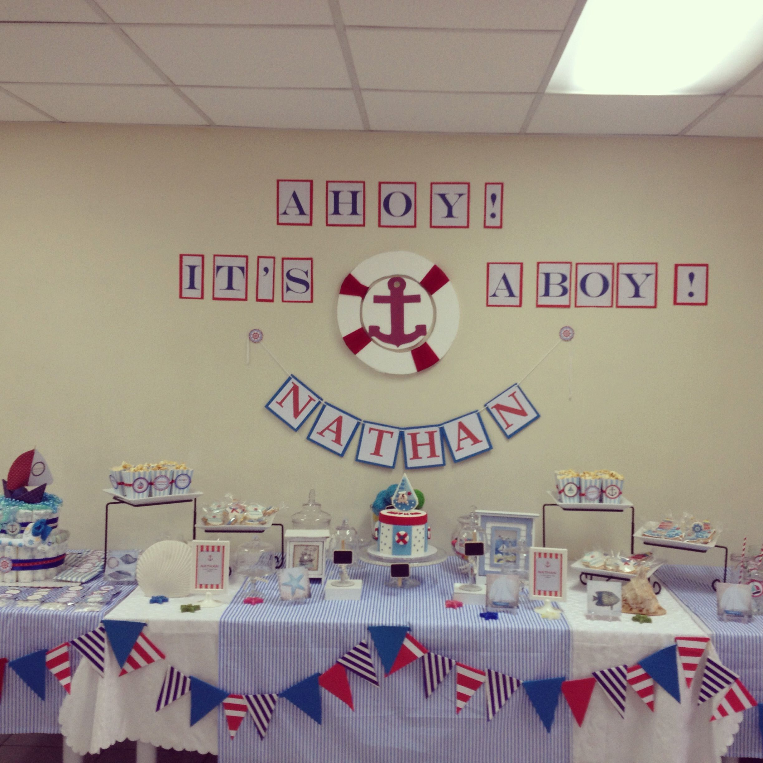 Nautica Baby Shower for Nathan PAMterest Pinterest