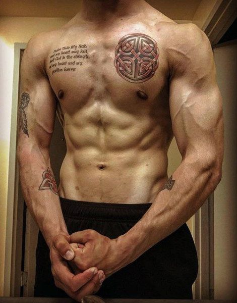 a6377707e 100 Celtic Knot Tattoos For Men - Interwoven Design Ideas | Tattoos ...