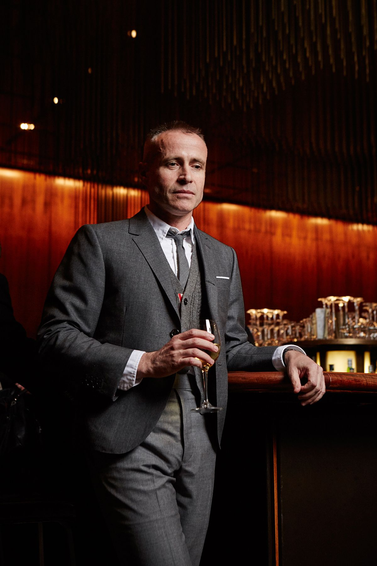 A drink with thom browne