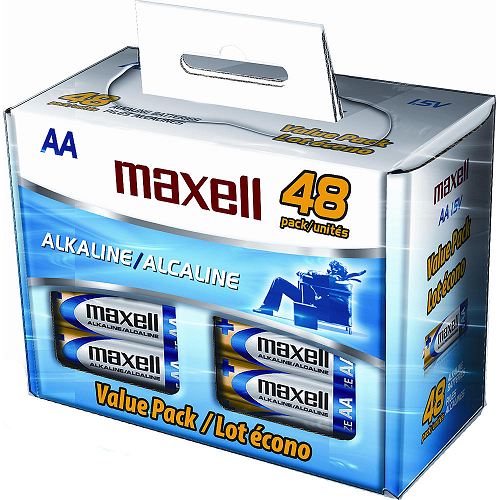 Maxell 48 Pack Aa Alkaline Batteries 9 79 After Points Maxell Alkaline Battery Alkaline