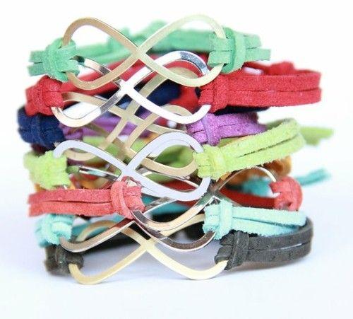 WANT! Infinity bracelets