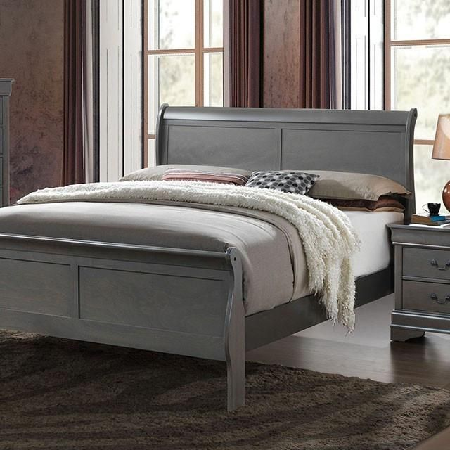 Best Louis Philippe Iii Grey Sleigh Bed Sleigh Beds Bedroom 400 x 300