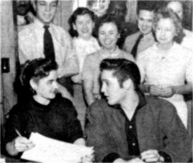 January 4 1957 in the morning Elvis drove with his Cadillac Eldorado to the Kennedy Veterans Hospital in Memphis for a pre-induction physical for his draft status. He was accompanied by Dottie Harmony.