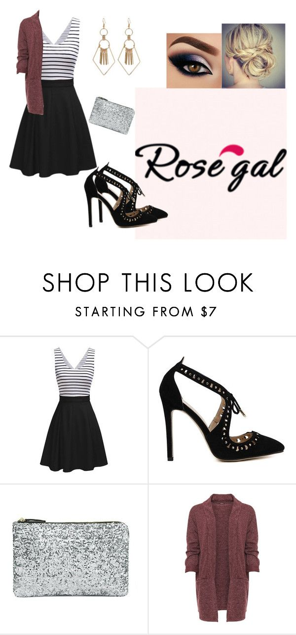 """""""Rose Gal"""" by pokeasaurousrex ❤ liked on Polyvore featuring WearAll and plus size clothing"""