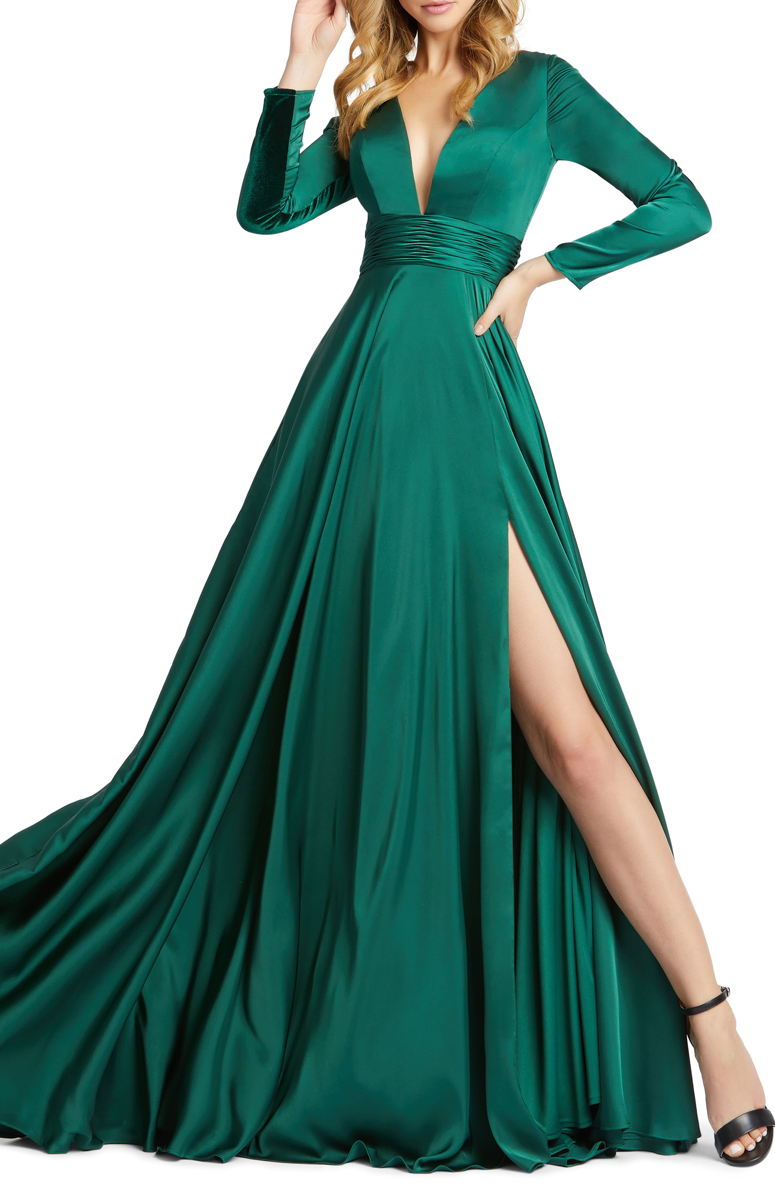 Ieena For Mac Duggal Long Sleeve Satin A Line Gown Nordstrom In 2021 Prom Dresses Long With Sleeves Long Sleeve Ball Gowns Long Sleeve Dress Formal [ 4048 x 2640 Pixel ]