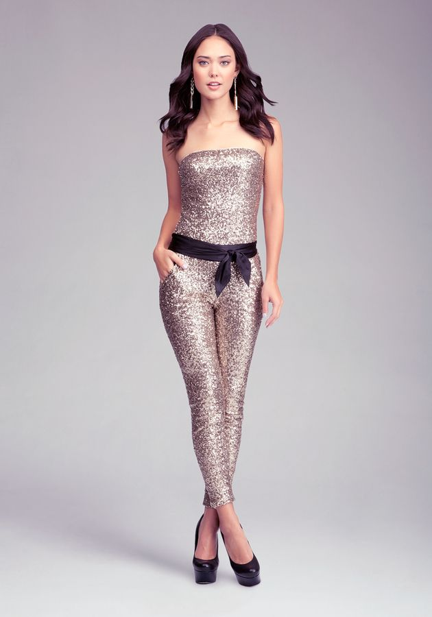 f78599ad9e9c Bebe Petite Sequin Jumpsuit on shopstyle.com | Jump In | Sequin ...