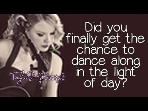 Drops of Jupiter (Live) - Taylor Swift - Lyrics