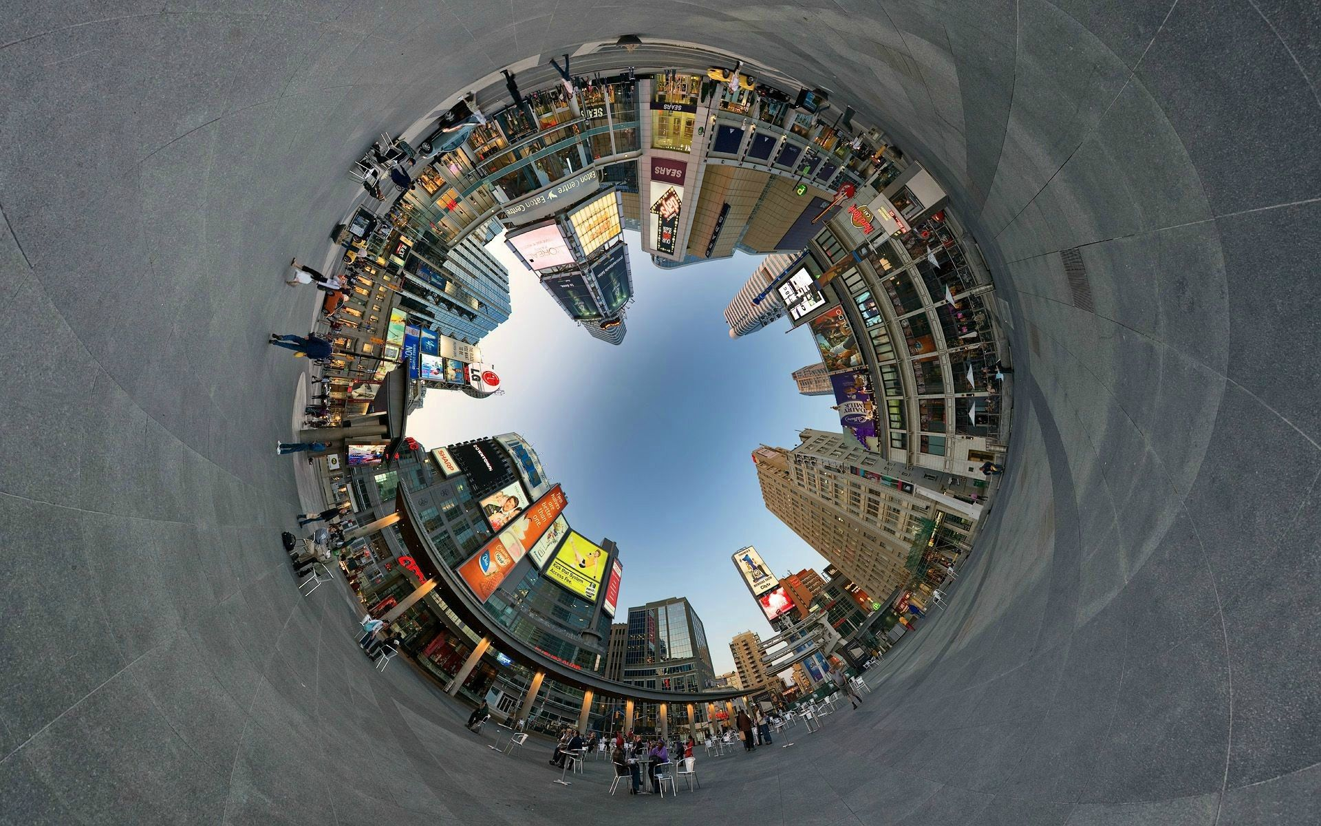 360 Degree City Wallpaper
