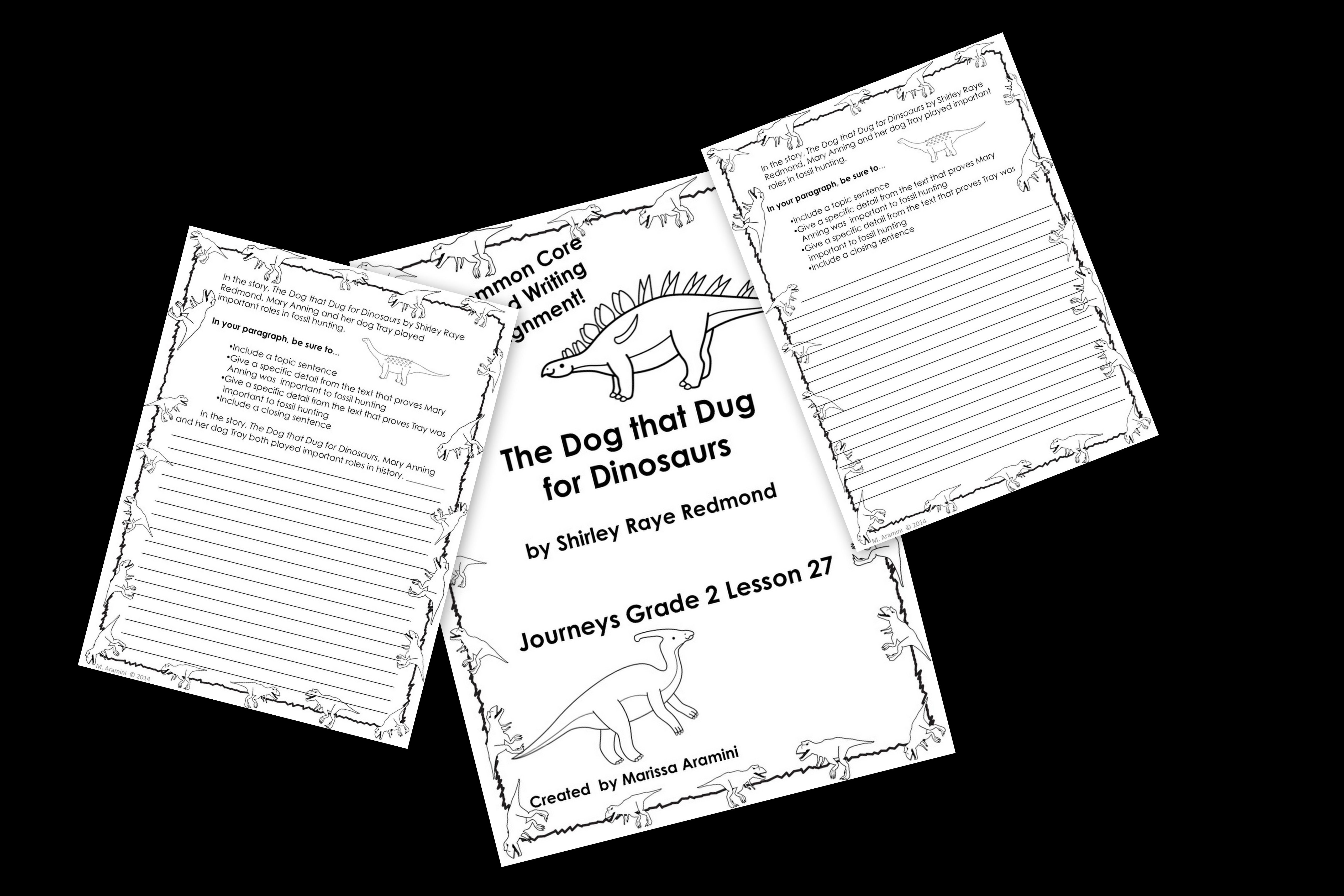 The Dog That Dug For Dinosaurs Journeys Grade 2 Lesson 27