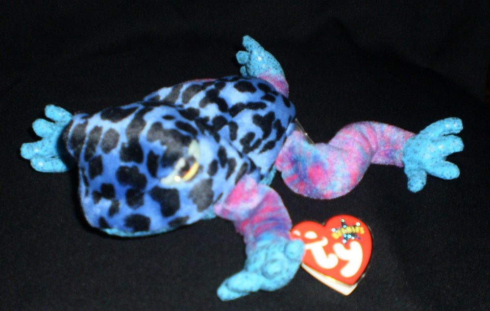 TY The Beanie Babies DART COLOURFUL FROG TOAD Soft Toy Collectable ... 59374592eed