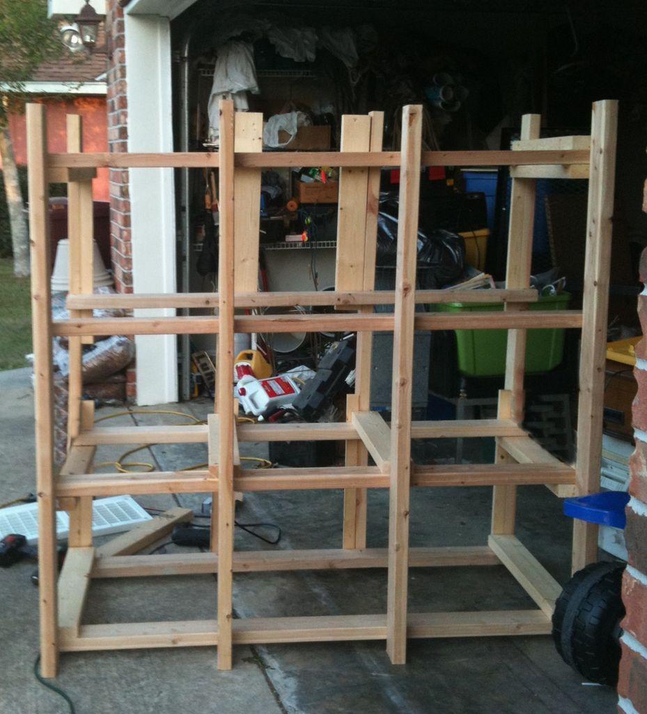 12 Storage Tote Shelving System 50.00 Tote storage