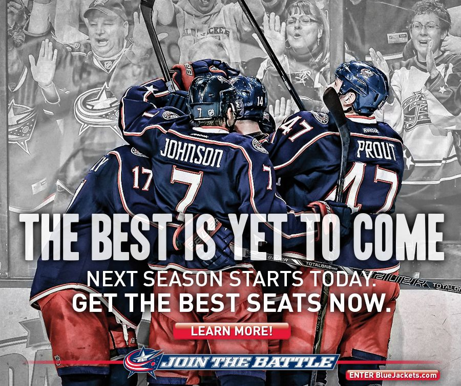 Columbus Blue Jackets The Best Is Yet To Come Columbus Blue Jackets Blue Jacket Hockey Girl