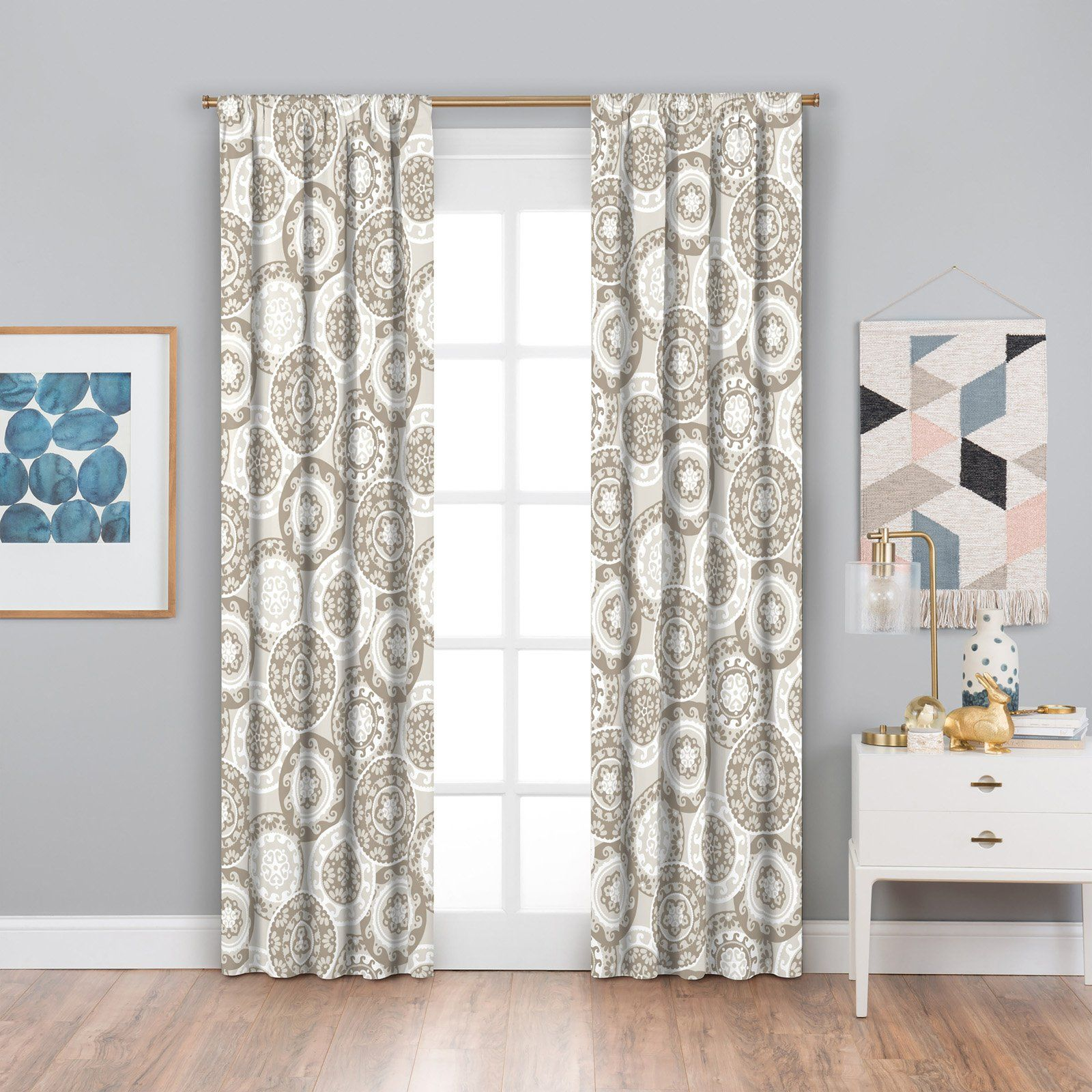 Eclipse Suzi Thermaback Blackout Window Curtain Neutral In