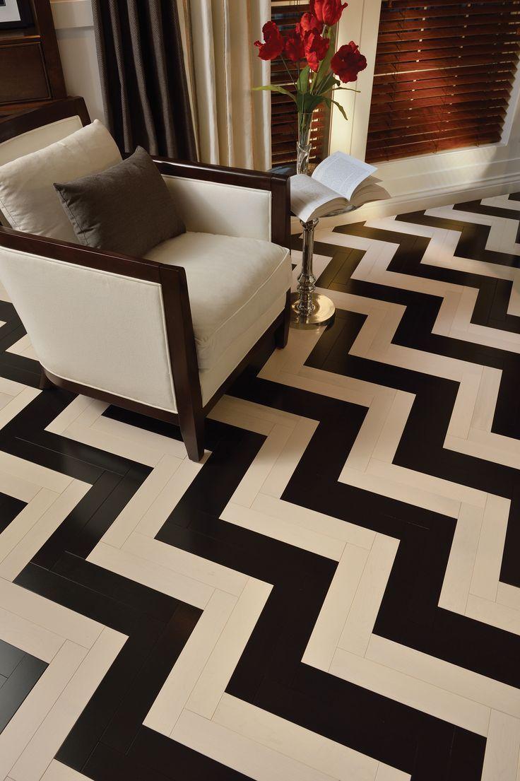 Black & White zigzag floor #floor #zigzag