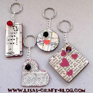 Lisa S Craft Blog Tutorial Memory Keychains Craft Ideas