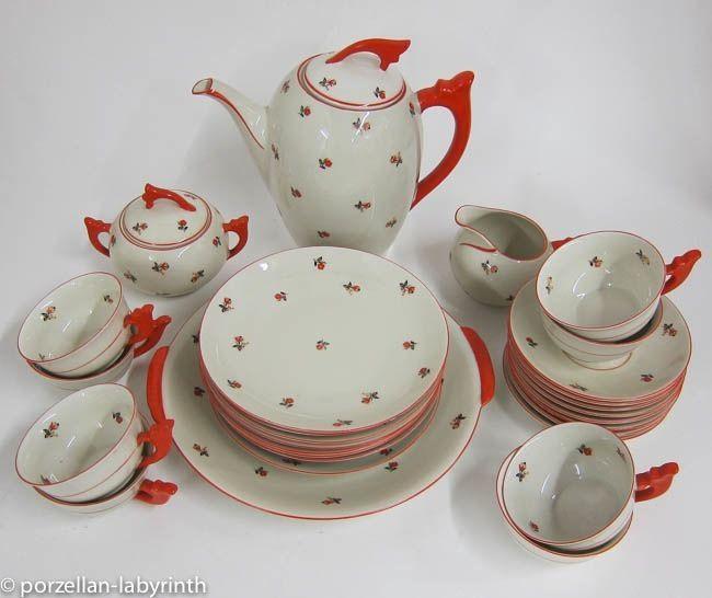 teeservice art deco kaffee service mitterteich bavaria 1920 1949 295 euro porcelain i whish. Black Bedroom Furniture Sets. Home Design Ideas