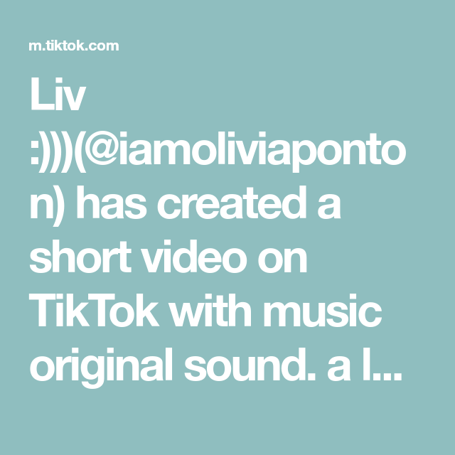 Liv Iamoliviaponton Has Created A Short Video On Tiktok With Music Original Sound A Lot Of People Ask For My Work Music Sell Music Online The Originals