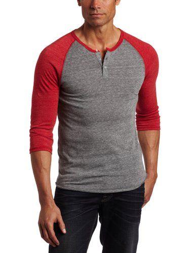 ce7321d1 Alternative Men's Raglan Henley Shirt at Amazon Men's Clothing store:  Sports Fan T Shirts
