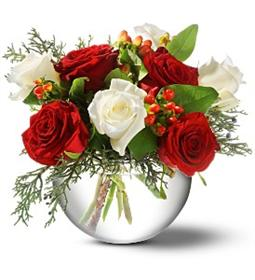 buchet cu flori de Craciun