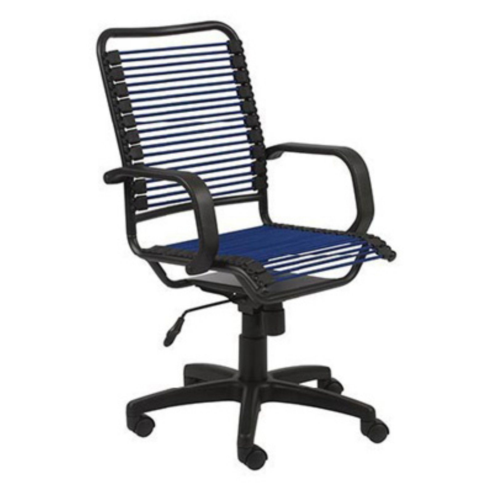 Euro Style Bradley Bungie High Back Office Chair Blue