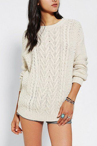 Everyone needs an ivory cable knit sweater this fall. | $59.00 ...