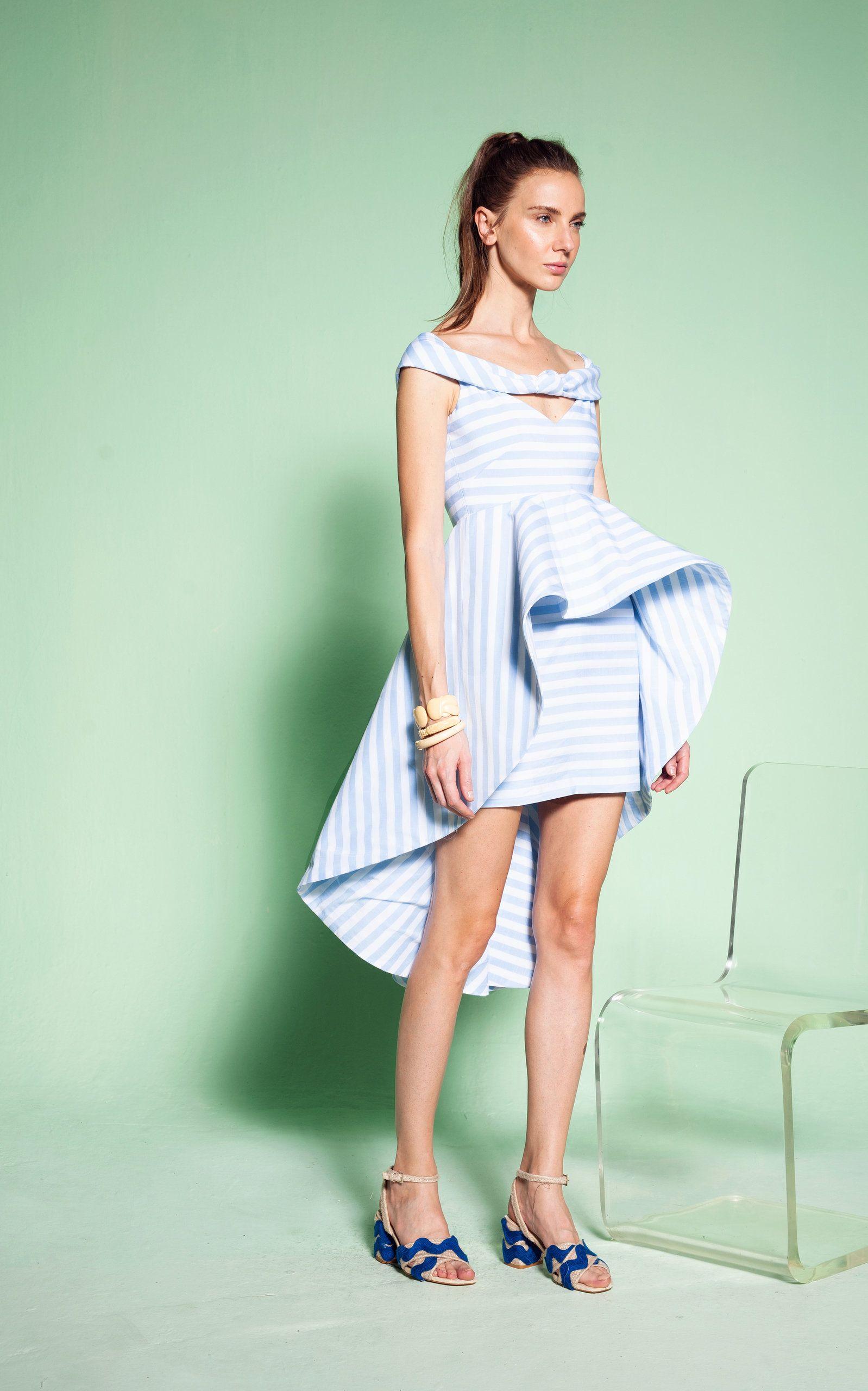 Leal Daccarett Anneta Striped Cotton-Blend Dress
