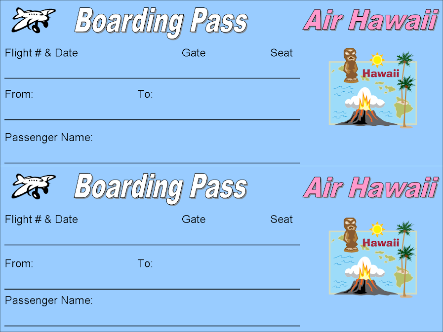 Free Printable Plane Ticket Boarding Passes # ...