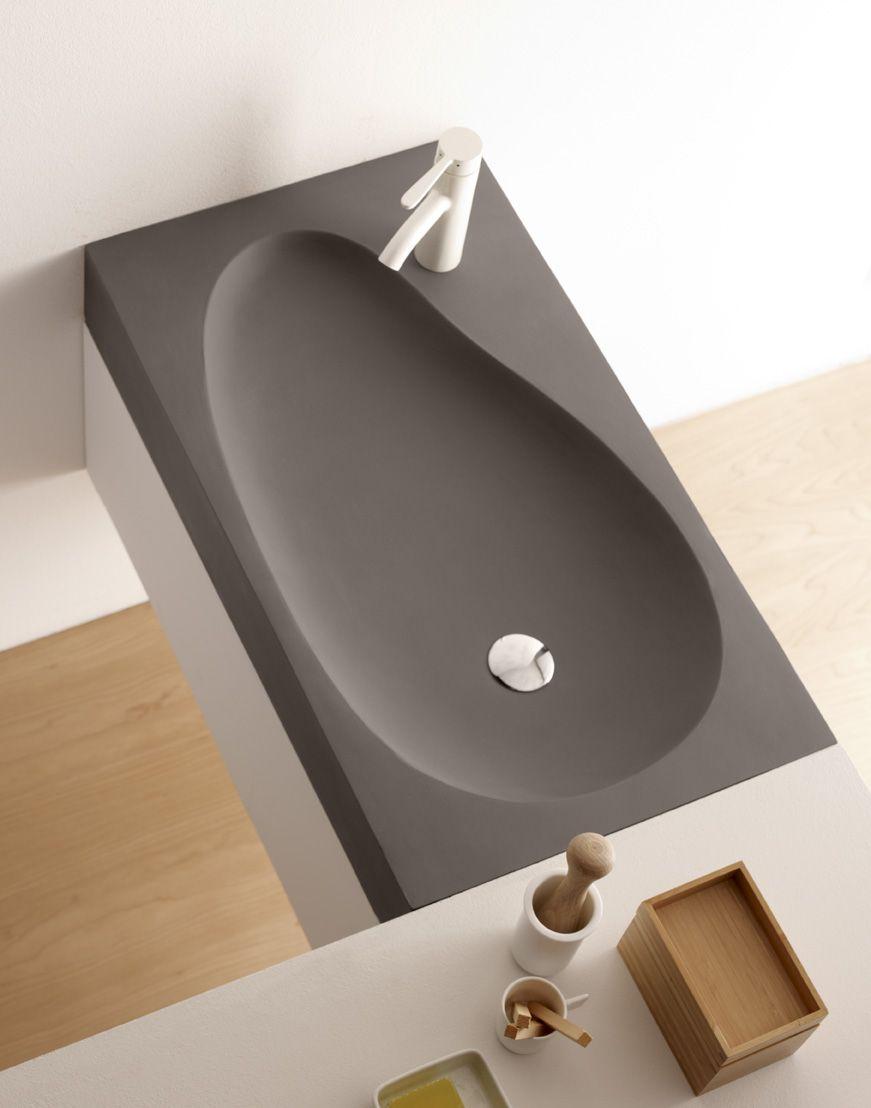 Beranga, lavabo de cemento, Cement & Terrazzo, Natural Series by ...