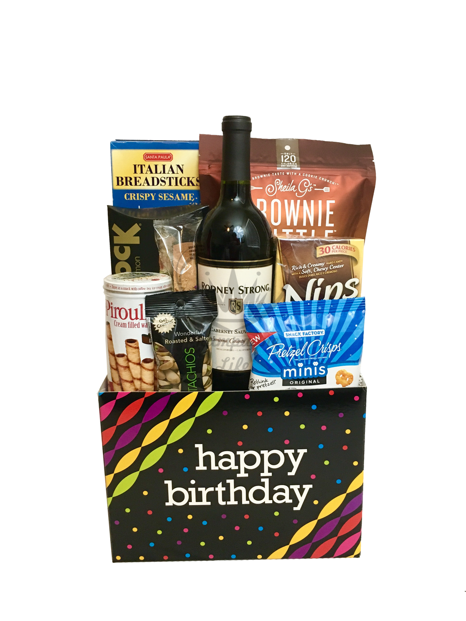 The Wine Birthday Gift Box Is Available For Same Day Delivery In Las Vegas NV Custom Gifts Corporate Or Build Your Own Gourmet Basket