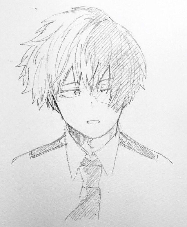 Todoroki Drawing Cute : todoroki, drawing, Todoroki, Shouto, Anime, Character, Drawing,, Sketch,, Academia, Manga
