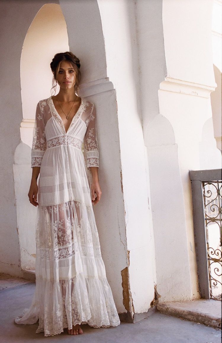 Spell Bride White Dress Bohemian Maxi Dresses Gypsy Outfits