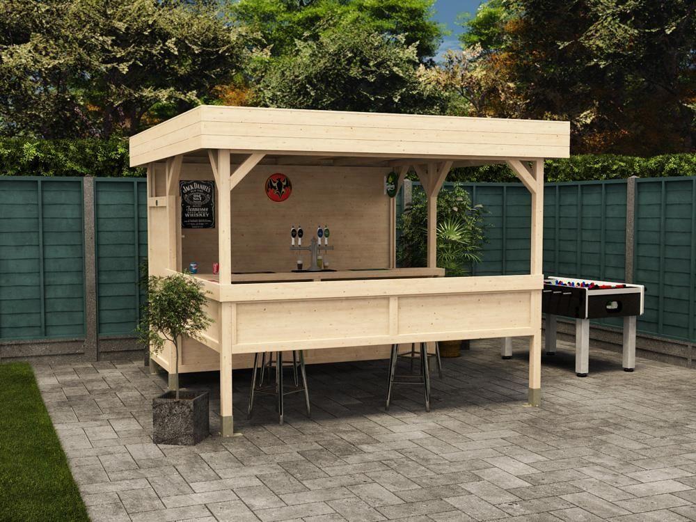 Enjoy A Weekend With Friends In Your Personal Garden Bar Yonohomedesign Com In 2020 Garden Bar Garden Buildings Wooden Gazebo