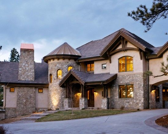French Country Home Design Style Ideas: Traditional Colorado ... on lake house rustic traditional exterior, air stone home exterior, modern rustic mountain homes exterior, mountain home style exterior, mountain home swimming pool designs,